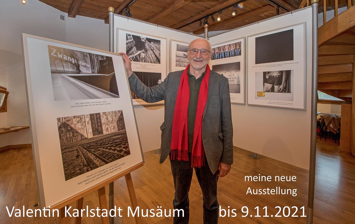 Herbert Becke in der Aussstellung im Valentin Karlstadt Musäum